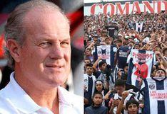 """DT de Sport Huancayo se rinde ante la hinchada de Alianza Lima: """"Espectacular cómo levanta a su gente"""""""