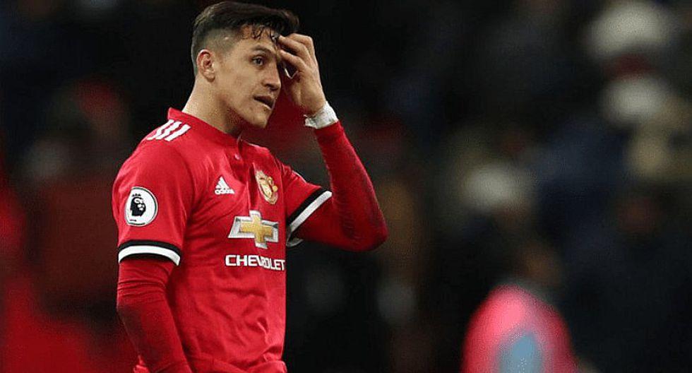 Alexis Sánchez es considerado el peor futbolista del Manchester United