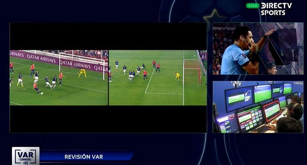 Polémica en la Copa Sudamericana: Diego Haro anula gol de Independiente gracias al VAR   VIDEO