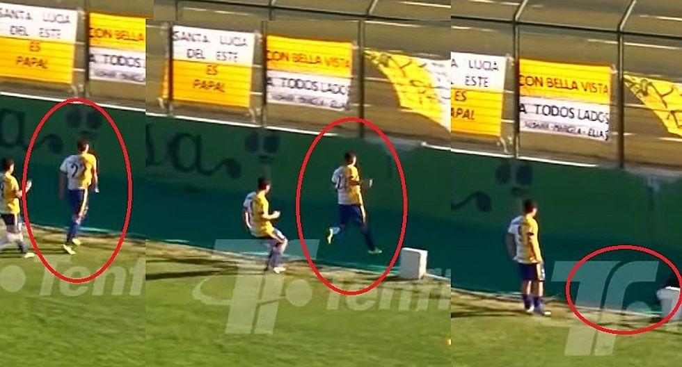YouTube | futbolista uruguayo anotó golazo, fue a celebrar con su hinchada y terminó en una fosa del estadio | VIDEO