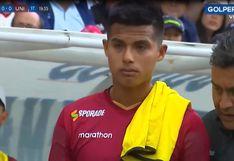 Universitario vs. UTC | Anthony Osorio dejó el campo llorando luego de recibir un codazo | VIDEO