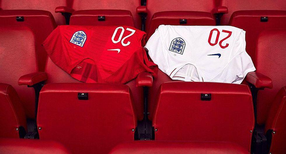 Inglaterra presentó las dos camisetas que usará en Rusia 2018 [FOTOS]