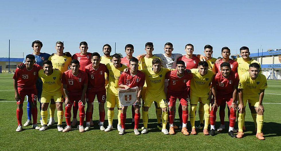 Golazo de Jairo Concha le da empate a Perú Sub-20 ante Boca Juniors