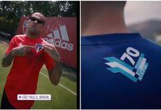 Emanuel Herrera se luce con Adriano y Dani Alves en spot de Adidas | VIDEO